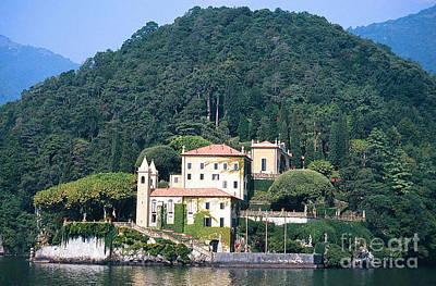 Palace At Lake Como Italy Poster by Greta Corens