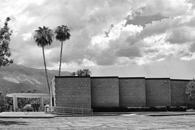 Palm Springs City Hall Bw Palm Springs Poster by William Dey