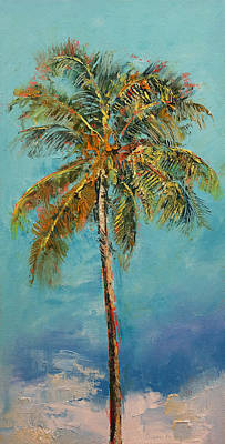 Palm Tree Poster by Michael Creese