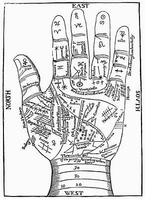 Palmistry, 1671 Poster by Granger