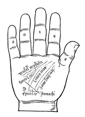 Palmistry Chart, 1531 Poster by Granger
