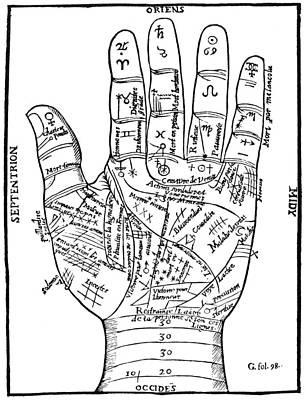 Palmistry Chart, 1649 Poster by Granger