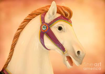 Palomino Carousel Horse Poster by Sabrina L Ryan