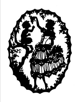 Pan And The Maiden Poster by Karon Melillo DeVega