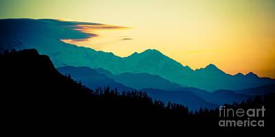 Panaramic Sunrise In Himalayas Artmif Photo Raimond Klavins Poster by Raimond Klavins