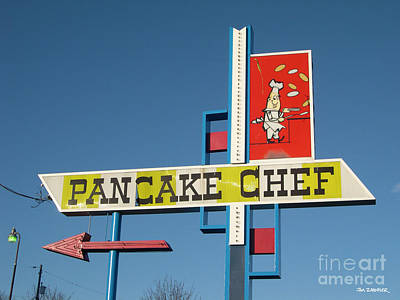 Pancake Chef Poster by Jim Zahniser