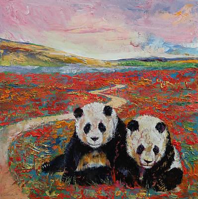 Panda Paradise Poster by Michael Creese