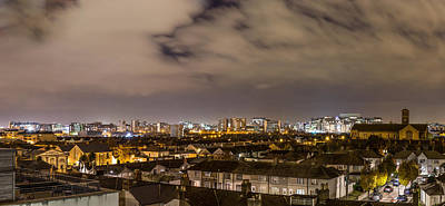 Panorama Of Dublin Quays Skyline Poster by Semmick Photo