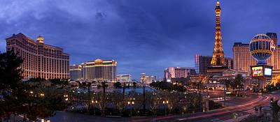 Panorama Of Las Vegas Poster by Silvio Ligutti
