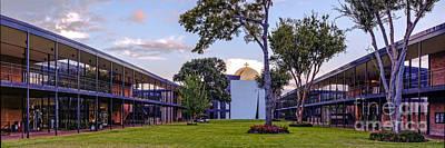 Panorama Of University St. Thomas Academic Campus - Montrose Houston Texas Poster by Silvio Ligutti