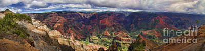 Panorama Of Waimea Canyon Hawaii Poster by David Smith