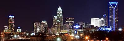 Panoramic Charlotte Night Poster by Frozen in Time Fine Art Photography