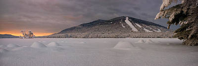 Panoramic Of Shawnee Peak And Moose Pond Poster by Darylann Leonard Photography
