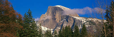 Panoramic View Of Half Dome In Yosemite Poster by Panoramic Images