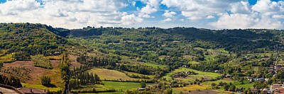 Panoramic View Of Orvieto In Italy Poster by Susan  Schmitz