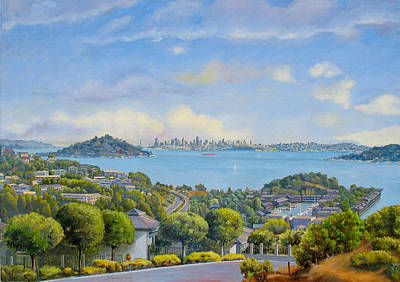 Panoramic View Of Tiburon- Large Poster by Dominique Amendola