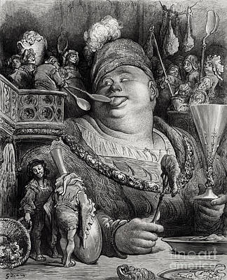 Pantagruels Meal Poster by Paul Jonnard Pacel