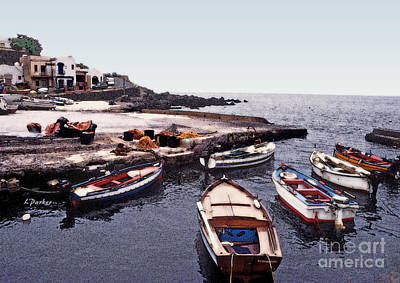 Pantelleria Boats Poster by Linda  Parker