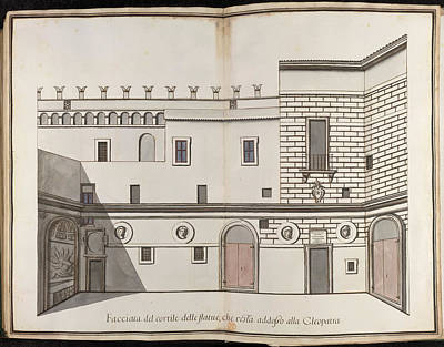 Papal Palace In Rome Poster by British Library