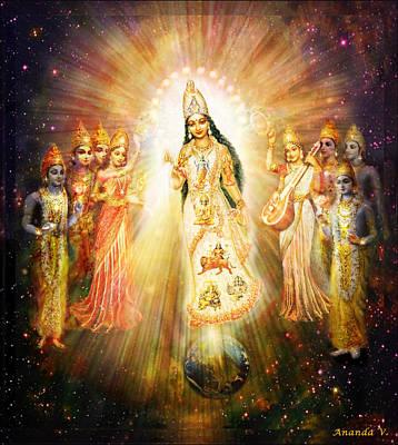 Parashakti Devi - The Great Goddess In Space Poster by Ananda Vdovic