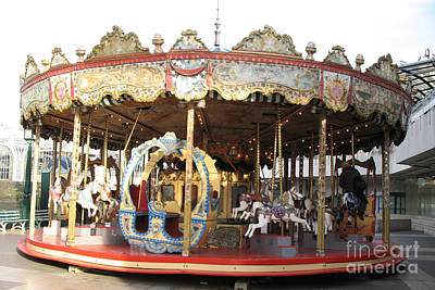 Paris Carousels Merry Go Round Horses - Paris Carousel Rides Fine Art Photography Poster by Kathy Fornal