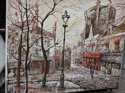 Paris France - Street Scenes - 121230 Poster by DC Photographer