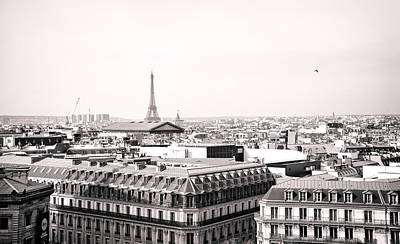 Black And White Paris Poster featuring the photograph Paris In The Afternoon by Vivienne Gucwa