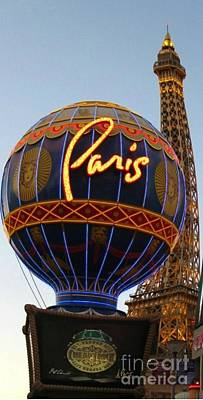Paris In Vegas Poster by John Malone