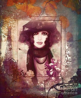 Paris Metro Poster by Shanina Conway
