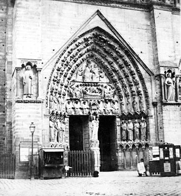 Paris Notre Dame Portal Poster by Granger