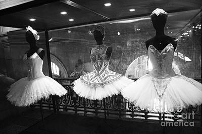 Black And White Paris Poster featuring the photograph Paris Opera Garnier Ballerina Costume Tutu - Paris Black And White Ballerina Photography by Kathy Fornal
