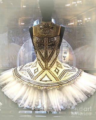 Paris Opera House Ballerina Tutu Costume - Opera Des Garnier Ballerina Costume Poster by Kathy Fornal