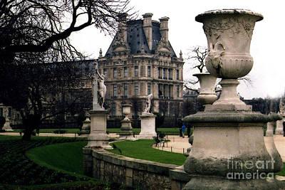 Paris Louvre Tuileries Park - Jardin Des Tuileries Garden - Paris Landmark Garden Sculpture Park Poster by Kathy Fornal