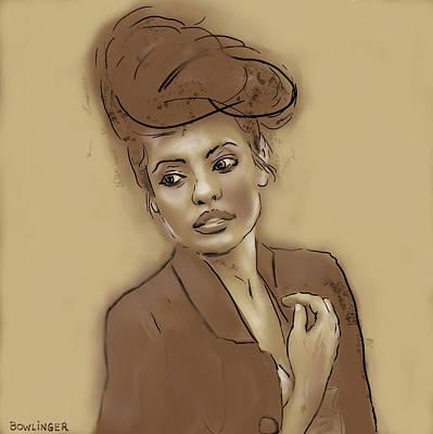 Parisienne Lady Poster by Scott Bowlinger