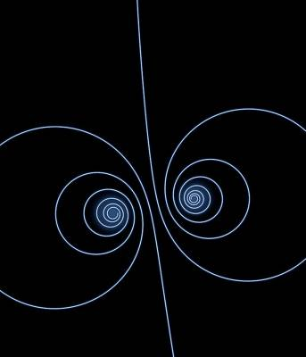 Particle Spirals Poster by David Parker