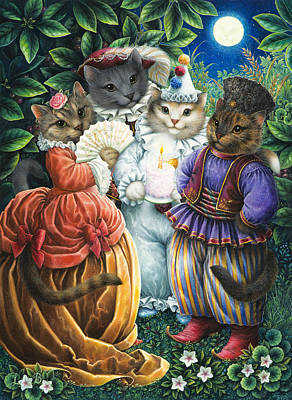 Party Cats Poster by Lynn Bywaters