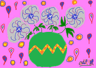 Party Flowers Poster by Anita Dale Livaditis