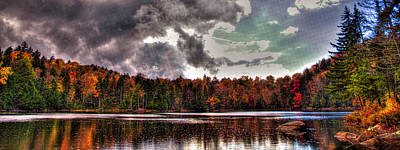Passing Storm Over Cary Lake Poster by David Patterson
