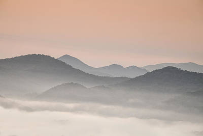 Pastel Dawn In The Smokies Poster by Andrew Soundarajan