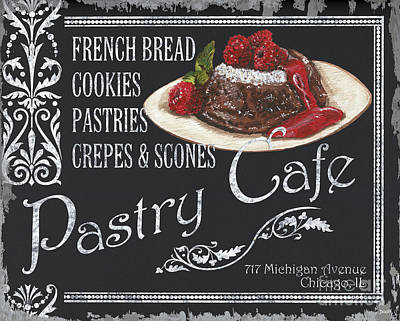 Pastry Cafe Poster by Debbie DeWitt