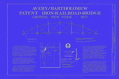 Patent Iron Railroad Bridge Poster by Mountain Dreams
