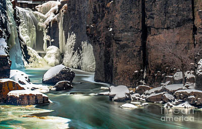 Paterson Falls Frozen Fantasy Poster by Jim DeLillo