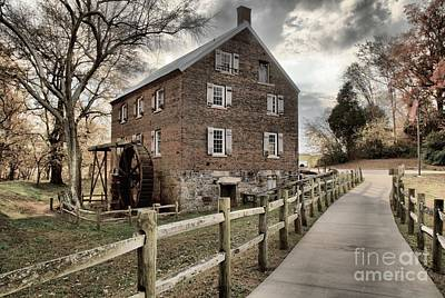 Pathway To Kerr Grist Mill Poster by Adam Jewell
