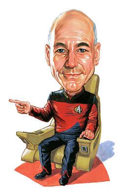 Patrick Stewart As Jean-luc Picard Poster by Art