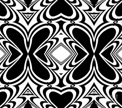 Pattern Black White Art No.266  Poster by Drinka Mercep