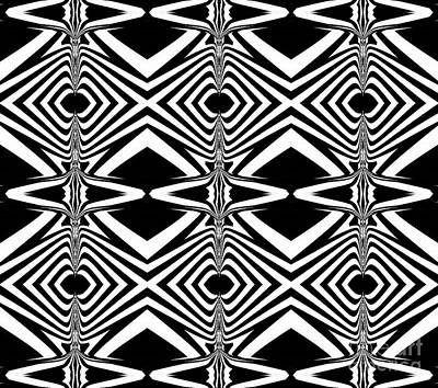Pattern Black White Art Print No.319. Poster by Drinka Mercep
