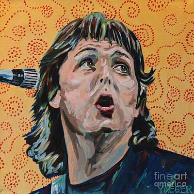 Paul Mccartney Portrait Poster by Robert Yaeger