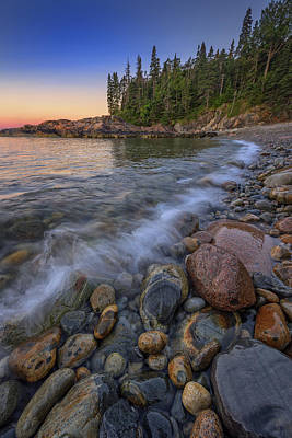 Peace And Quiet On Little Hunters Beach Poster by Rick Berk