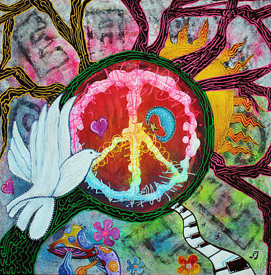 Peace Tree Poster by Laura Barbosa