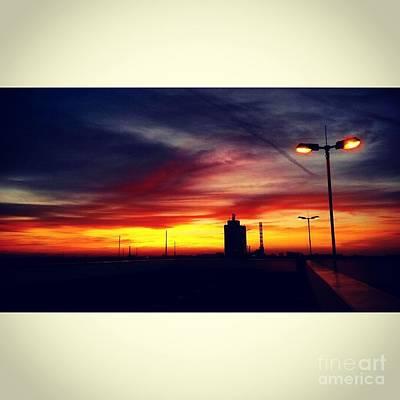 Peaceful Sundown Lights Poster by Jacks Skystore